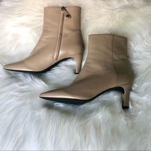 Geox Bibbiana Beige Ankle Boots